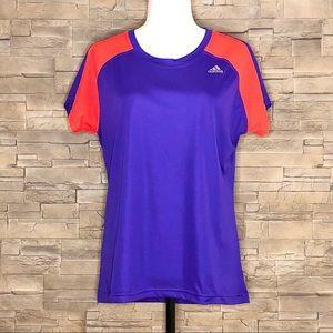 Adidas purple and orange sport t-shirt